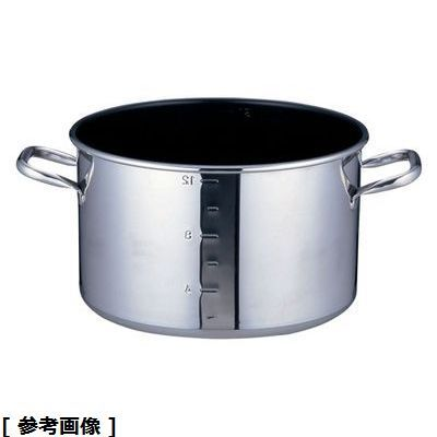 TKG (Total Kitchen Goods) SAパワー・デンジアルファ半寸胴鍋(30(蓋無)目盛付) AHV9304
