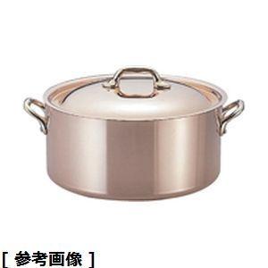 ついに再販開始 Mauviel モービル モービルカパーイノックス半寸胴鍋 最新 蓋付 12 AZV611 6522.12