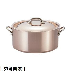 Mauviel(モービル) モービルカパーイノックス半寸胴鍋(蓋付)(6522.12 12) AZV611