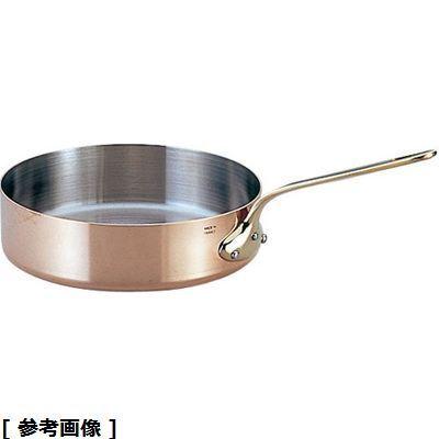 Mauviel(モービル) モービルカパーイノックス片手浅型鍋((蓋無)6523.24 24) AKT783
