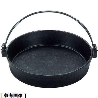 三和精機 S 鉄すきやき鍋ツル付 特売 超人気 黒ぬり 16cm QSK50016
