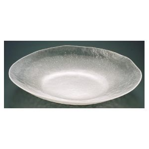 その他 硝子和食器白雪22小判盛込皿(特大) RML28