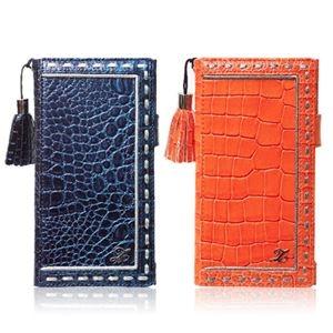 その他 ZENUS Xperia Z1 Prestige Prima Croco Diary オレンジ ds-1823945