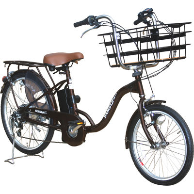 KAIHOU 20/24型外装6段ビックバスケット『電動アシスト自転車 SUISUI』(ブラウン) KH-DCY07BR-BB