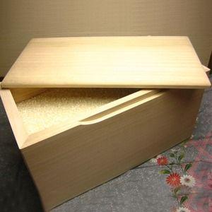 その他 桐の米びつ/ライスストッカー 【10kg用/無地】 泉州留河 日本製 ds-1837953