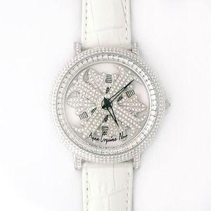 その他 アンコキーヌ ネオ 45mm バイカラー ミニクロス シルバーベゼル インナーベゼルクリアー ホワイトベルト アルバ 正規品(腕時計・グルグル時計) ds-1840065