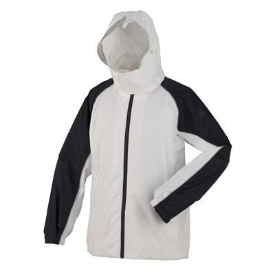 スミクラ 防水透湿 レインスーツ ホワイト M (155~165cm) 全2色 7サイズ 収納袋付き 2層レイヤー EE-04169