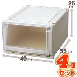 その他 (4個セット) 収納ボックス/衣装ケース 『Fits フィッツユニットケース』 幅40cm×高さ25cm 日本製 ds-1852583