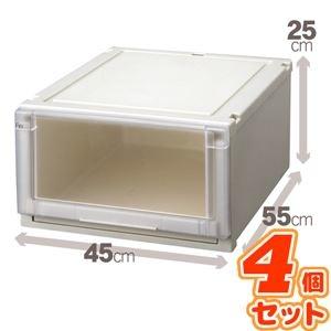 その他 (4個セット) 収納ボックス/衣装ケース 『Fits フィッツユニットケース』 幅45cm×高さ25cm 日本製 ds-1852586