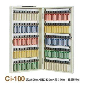 その他 キーボックス/鍵収納箱 【携帯・壁掛兼用/100個掛け】 スチール製 タチバナ製作所 Ci-100 ds-1852886