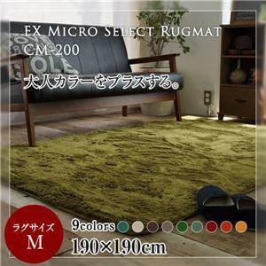 その他 レトロモダン マイクロセレクトラグマット(CM200) 190×190cm モスグリーン ds-1853926
