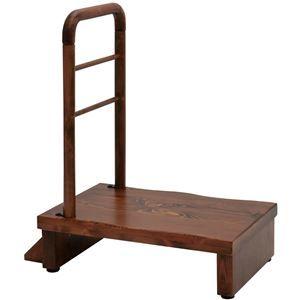 その他 手すり付きうずくり玄関台 (ステップ/踏み台) 幅60cm アジャスター付き 【組立品】 ds-1854751