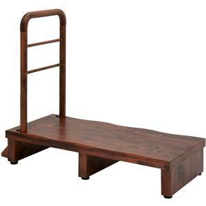 その他 手すり付きうずくり玄関台 (ステップ/踏み台) 幅90cm アジャスター付き 【組立品】 ds-1854752