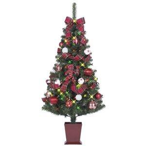 その他 クリスマスツリー 【チャーム】 120cmサイズ 四角ポット付き 『セットツリー』 〔イベント パーティー〕 ds-1874607
