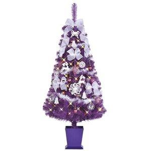 その他 クリスマスツリー 【スプレンダーパープル】 150cmサイズ 四角ポット付き 『セットツリー』 〔イベント パーティー〕 ds-1874613