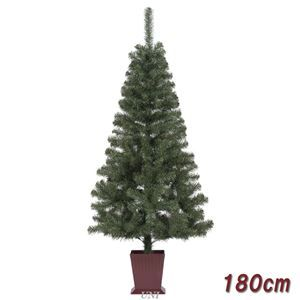その他 クリスマスツリー/オブジェ 【180cmサイズ】 四角ポット付き 『カナディアンツリー』 〔イベント パーティー〕 ds-1874627