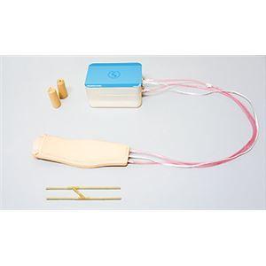 その他 装着型静脈注射判定トレーナー 「IVジャッジマン」 装着用ベルト/交換用血管/収納ケース付き M-183-0【代引不可】 ds-1878011