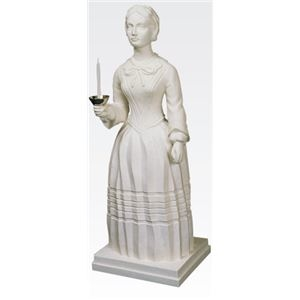 その他 ナイチンゲール立像 【燭台付き】 高さ100cm T-103-0【代引不可】 ds-1878027