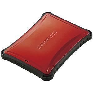 その他 エレコム ZEROSHOCKポータブルハードディスク/USB3.0/1TB/レッド ELP-ZS010URD ds-1890176