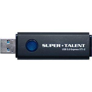 その他 SUPERTALENT USB3.0フラッシュメモリ 256GB ワンプッシュスライド式 ST3U56ES12 ds-1896075