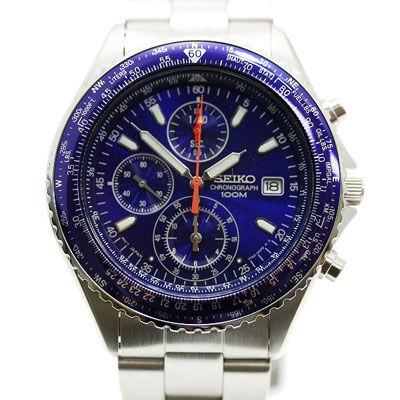 SEIKO セイコー スカイパイロット クロノグラフ SND255P1 メンズ腕時計 ブルー/シルバー セイコーウオッチ SESND255P1
