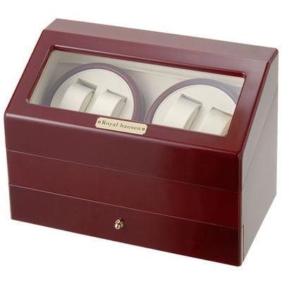 ロイヤルハウゼン ワインダー 時計収納ケース付きワインダー4本巻5本収納 SR074 RD ワインディングマシーン 腕時計/自動巻き機 SR074RD