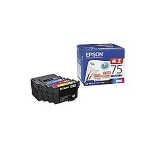 その他 (業務用3セット) 【純正品】 EPSON エプソン インクカートリッジ 【IC4CL75 4色パック】 大容量インク ds-1911206