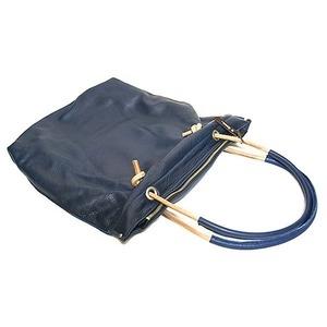 その他 ★dean(ディーン) knotted handle tote レザーバッグ ネイビー ds-1912156