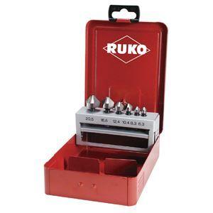 その他 RUKO(ルコ) 102319 6PC カウンターシンクセット (スチールケース入り) ds-1899114