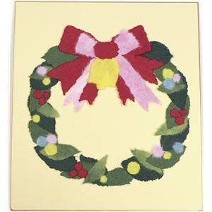 その他 (業務用10セット) 藤久 ちぎり絵 大色紙 冬 クリスマスリース ds-1913142