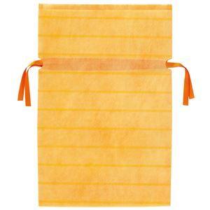 その他 (業務用10セット) カクケイ 不織布リボン付き巾着袋 黄 M 10枚 FK3043 ds-1913316