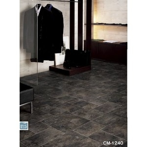 その他 サンゲツ 店舗用クッションフロア ブラックスレート 品番CM-1240 サイズ 200cm巾×9m ds-1921286