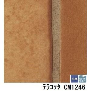 その他 サンゲツ 店舗用クッションフロア テラコッタ 品番CM-1246 サイズ 182cm巾×9m ds-1921326