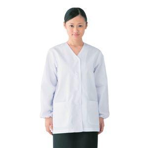 高価値 その他 新品 workfriend 調理用白衣女子衿無長袖 ds-1926027 SKA330 Mサイズ