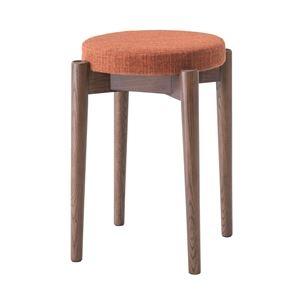 その他 シンプルスタッキングスツール/腰掛け椅子 【ブラウン】 積み重ね可 クッション付き CL-782CBR ds-1937178