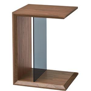 その他 マルチサイドテーブル/ミニテーブル 【幅54cm】 強化ガラス使用 ウォールナット SO-226WAL ds-1937682