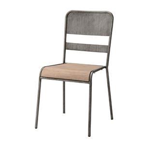 その他 スタッキングチェア/腰掛け椅子 【座面高45.5cm】 積み重ね可 天然木×スチール VET-901C ds-1937935