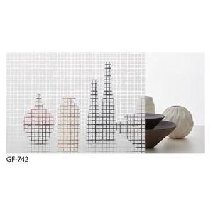 その他 幾何柄 飛散防止ガラスフィルム サンゲツ GF-742 92cm巾 6m巻 ds-1942356