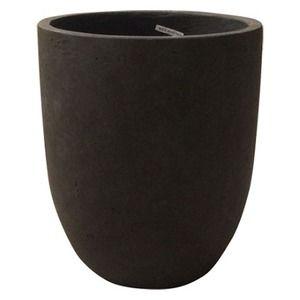 その他 軽量コンクリート製 植木鉢/プランター 【ダークブラウン 直径43cm】 底穴あり 『フォリオ アルトエッグ』 ds-1705284