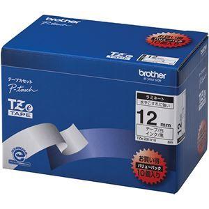その他 ブラザー工業 TZeテープ ラミネートテープ(白地/黒字) 12mm 10本パック TZe-231V10 ds-1945440