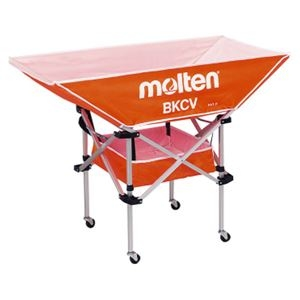 その他 モルテン(Molten) 折りたたみ式平型軽量ボールカゴ(背低) オレンジ BKCVLO ds-1947286