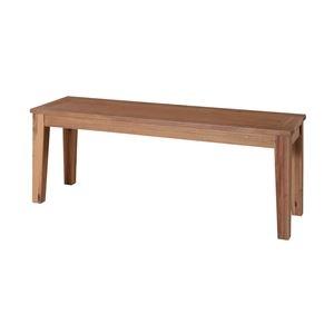 その他 木製ベンチ椅子/ベンチチェア 【幅134cm×奥行35cm】 アカシア材オイル仕上げ 『アルンダ』 ds-1949637