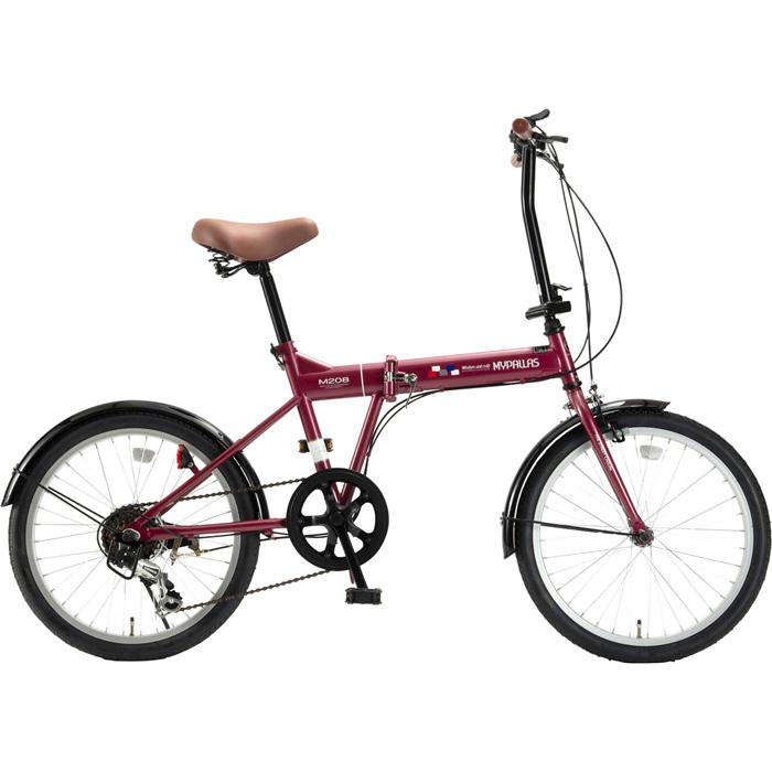 マイパラス 折畳自転車20インチ・6段ギア 折畳20・6SP (ルージュ) M-208-RO【納期目安:01/中旬入荷予定】