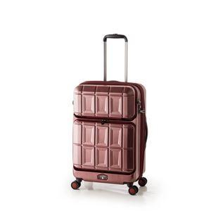 その他 スーツケース 【マットブラッシュレッド】 拡張式(54L+8L) ダブルフロントオープン アジア・ラゲージ 『PANTHEON』 ds-1950538