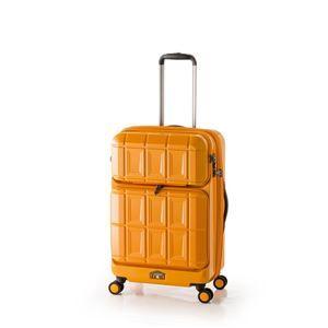 その他 スーツケース 【オレンジ】 拡張式(54L+8L) ダブルフロントオープン アジア・ラゲージ 『PANTHEON』 ds-1950542