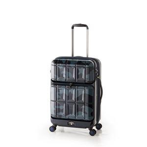 その他 スーツケース 【ネイビーカモフラージュ】 拡張式(54L+8L) ダブルフロントオープン アジア・ラゲージ 『PANTHEON』 ds-1950543