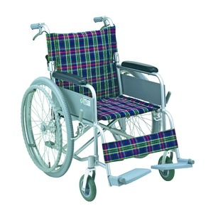 その他 アルミ製 車椅子 【背折れタイプ】 自走・介助兼用 軽量 折り畳み ハンドブレーキ付き SG取得商品 〔介護用品 福祉用品〕 ds-1952230