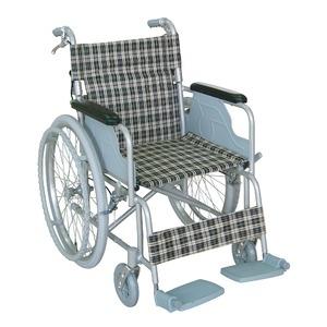 その他 アルミ製 車椅子 【背折れタイプ】 自走・介助兼用 軽量 折り畳み テイコブハンドブレーキ付き 〔介護用品 福祉用品〕 ds-1952231