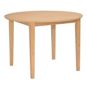 その他 【単品】 円形 ダイニングテーブル 【ナチュラル】 100×100cm 木製 ds-1983449