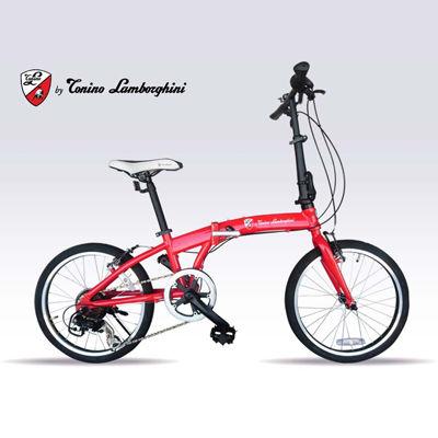 マイパラス 世界が憧れる「ランボルギーニ」の魅力を、自転車に 小型折畳自転 アルミ (RED) TL-212-RED